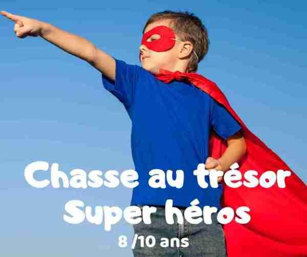 chasse au trésor super héros à imprimer