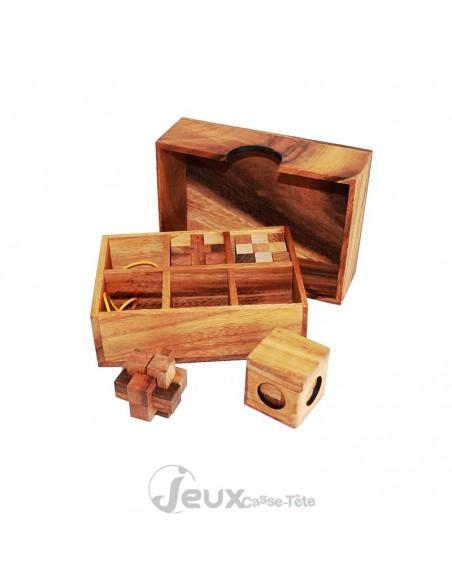 coffret de 6 casse tete en bois pour se faire ou faire plaisir