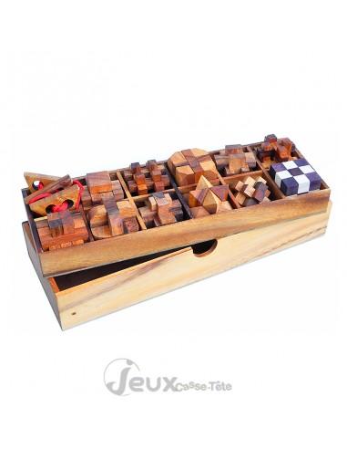 coffret cadeau de 12 casse tete en bois