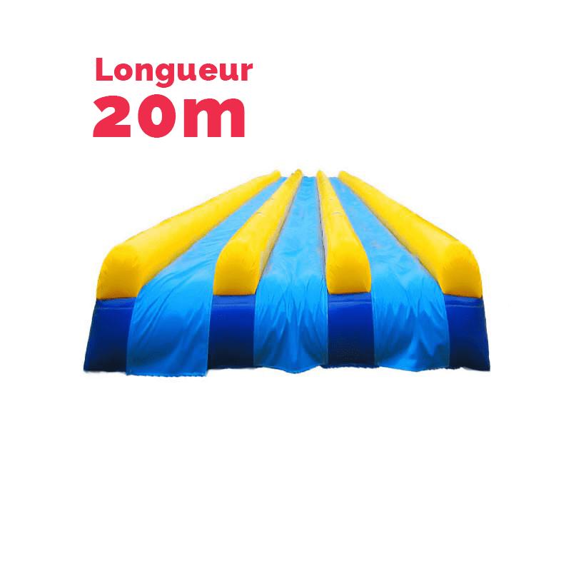 achat ventriglisse 20m 3 couloirs tapis glisse aquatique gonflable