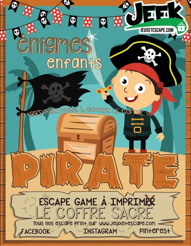 Escape game à imprimer pour enfants pirates