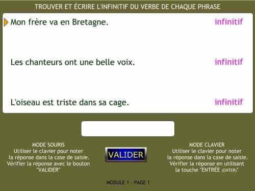 Conjugaison En Ligne Jeuxtravaillenligne Le Temps Des Verbes
