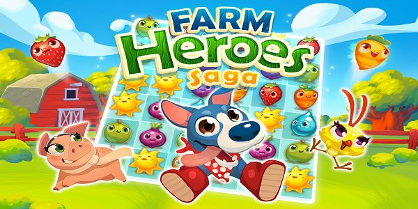 Farm Heroes Saga Triche Astuce Barres d'or,Vies,Haricots
