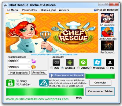 Chef Rescue triche