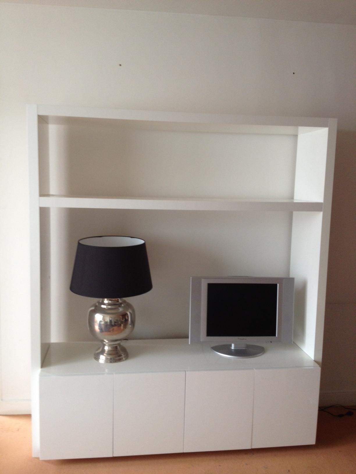 meuble tv habitat aspen blanc laque