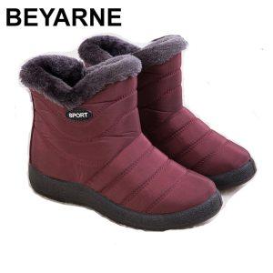 women non-slip bottom shoes, warm fur snow boots for winter