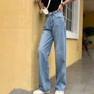 Woman Jeans High Waist Wide Leg Denim Clothing
