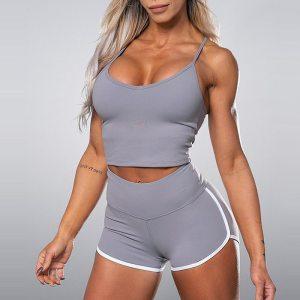 Women 2 Piece Set Gym Clothes Clothing Sports Bra Active Wear Yoga Shorts