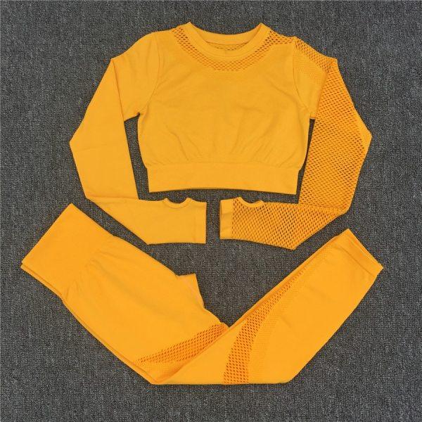 Yoga Set Women Sport Suit Gym Clothes 2 Piece Seamless