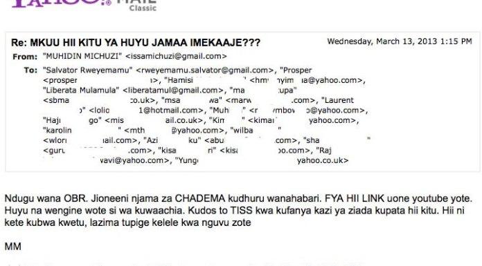Siri ya kutekwa na kuumizwa kwa Absalom Kibanda barua kutoka Ikulu