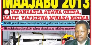 Gazeti la Uwazi - Mtanzania Auawa Kinyama China na Maiti Yake Yahifadhiwa Mwaka Mzima