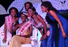 Diana Edward Loy Miss Tanzania 2016-17 Akiwa na Wenzake Top-5