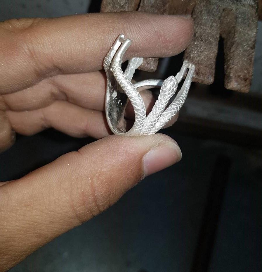 Natural Turquoise + Nishapuri Feroza + Silver Ring + Chandi Ring