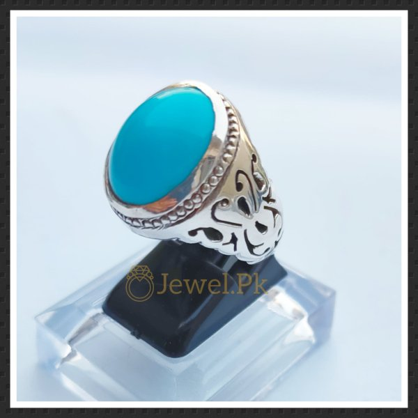Beautiful Irani handmade ring silver 925 Clean Blue Feroza (Turquoise)