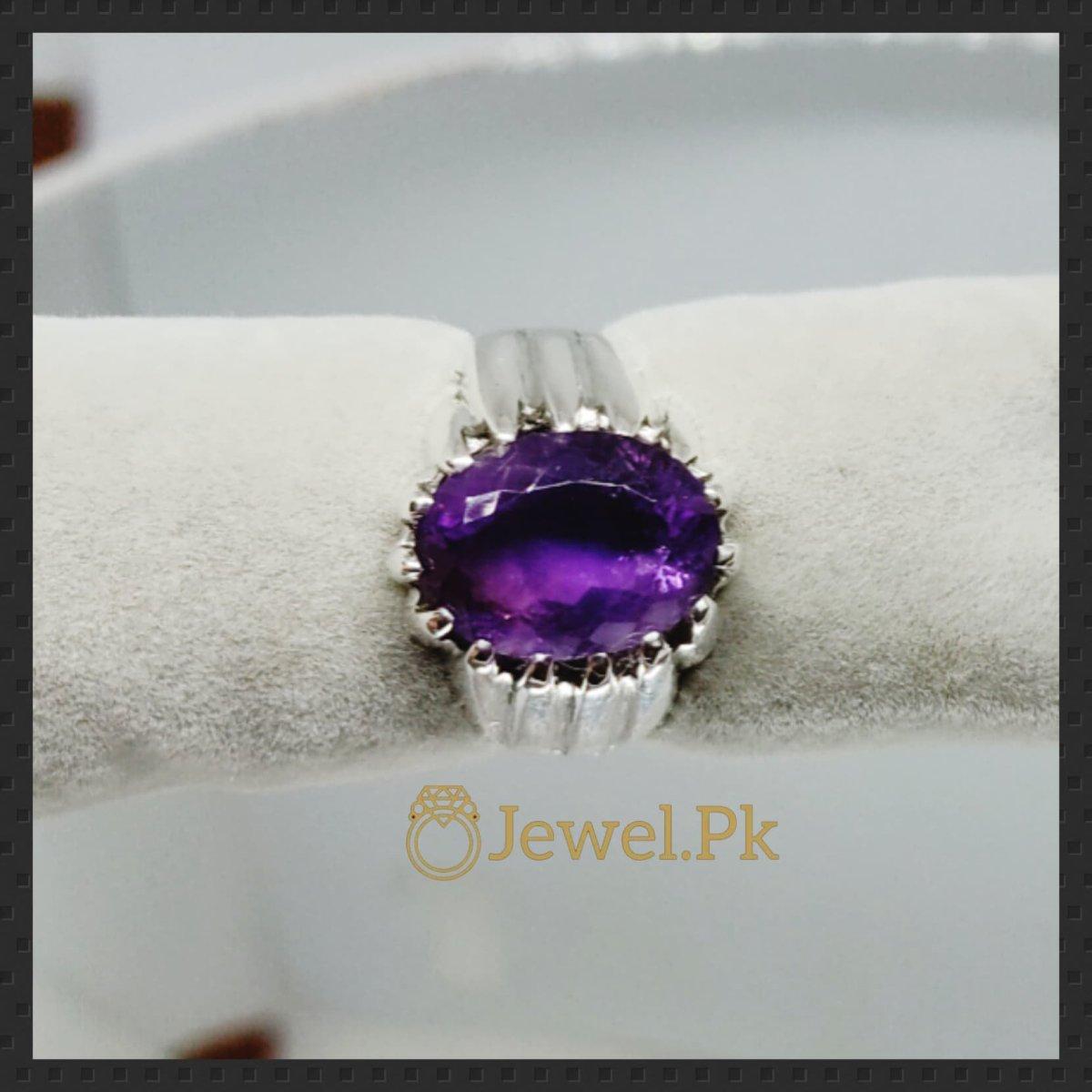 Natural Amethyst Ring in 925 Silver buy online in pakistan