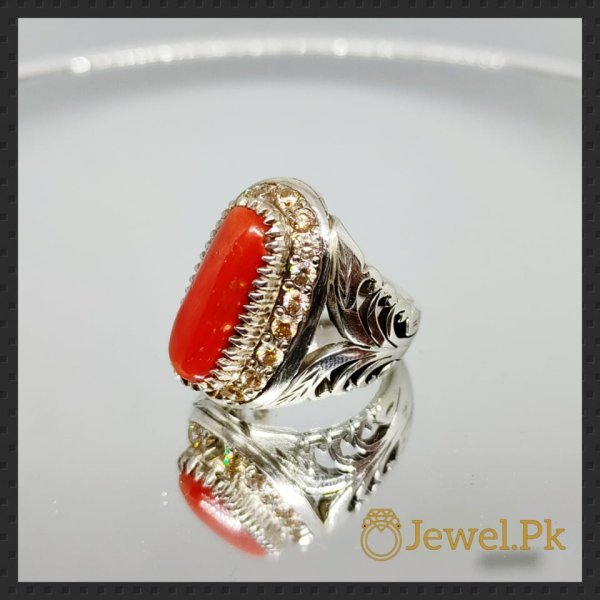 Natural Coral Marjaan Ring