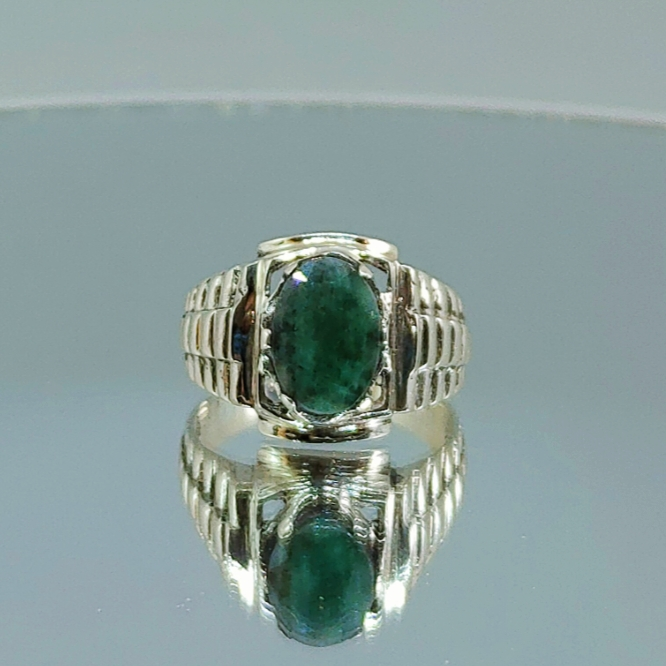 Luxury Rolex - Emerald Ring Buy in Pakistan - Handmade ring 925 Silver
