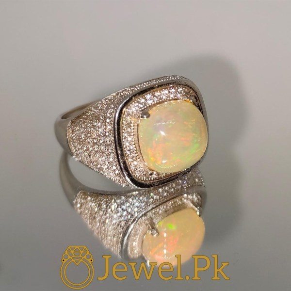 Natural Opal Ring in Silver Ring 925 Chandi Fire Opal