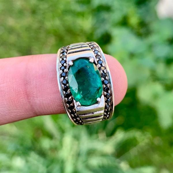 Natural Zambian Emerald Ring 4 1