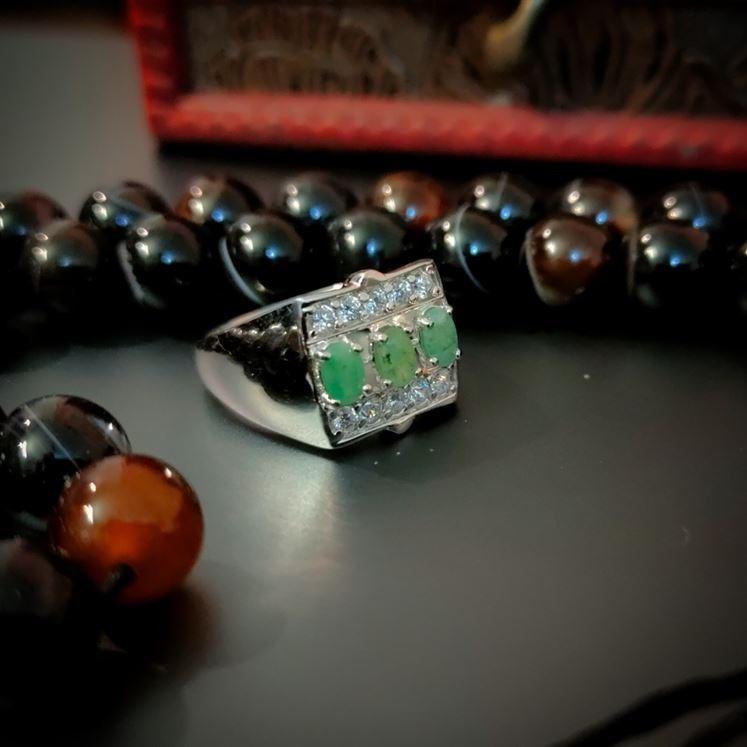 Emerald Zamurd Ring