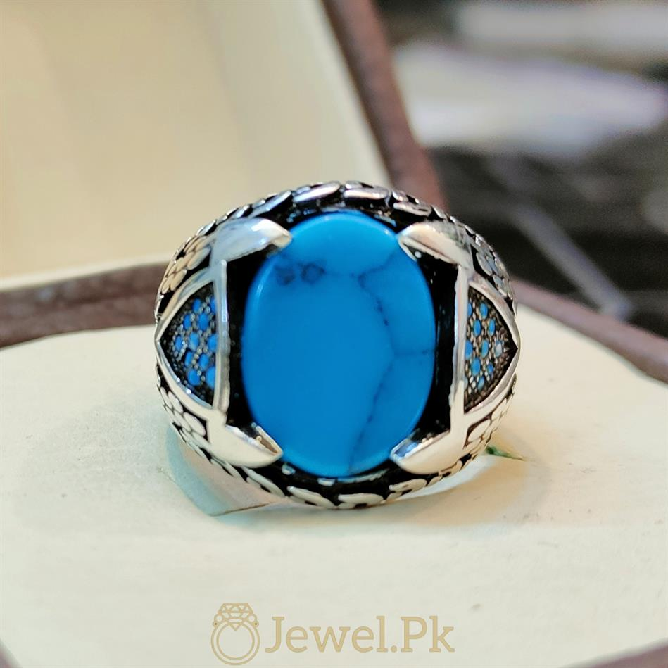 Turkish Feroza Turkish Rings in Turkish Turquoise Handmade Silver 925 Ring Sterling Silver 1 natural gemstones pakistan + 925 silver jewelry online