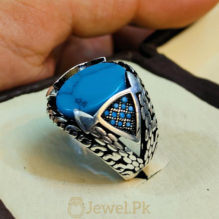 Turkish Feroza Turkish Rings in Turkish Turquoise Handmade Silver 925 Ring Sterling Silver 3 natural gemstones pakistan + 925 silver jewelry online