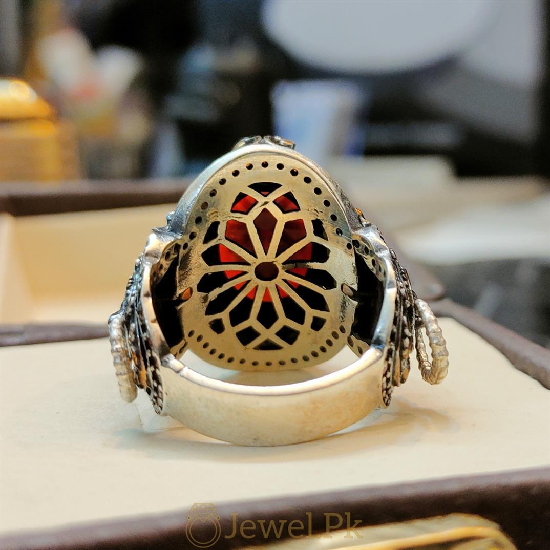 Turkish Ring Master Piece 5 natural gemstones pakistan + 925 silver jewelry online