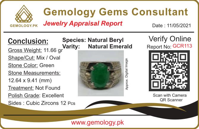 GCR113 1 natural gemstones pakistan + 925 silver jewelry online