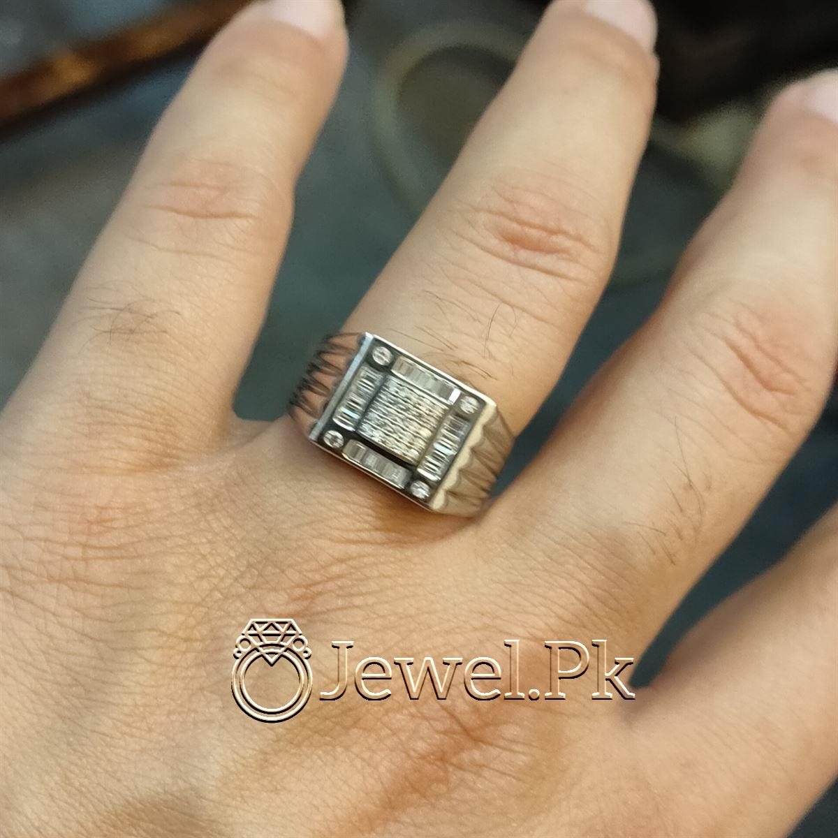 Luxury Italian Rings for men Very Beautiful Italian Zircon Rings for man 4 natural gemstones pakistan + 925 silver jewelry online