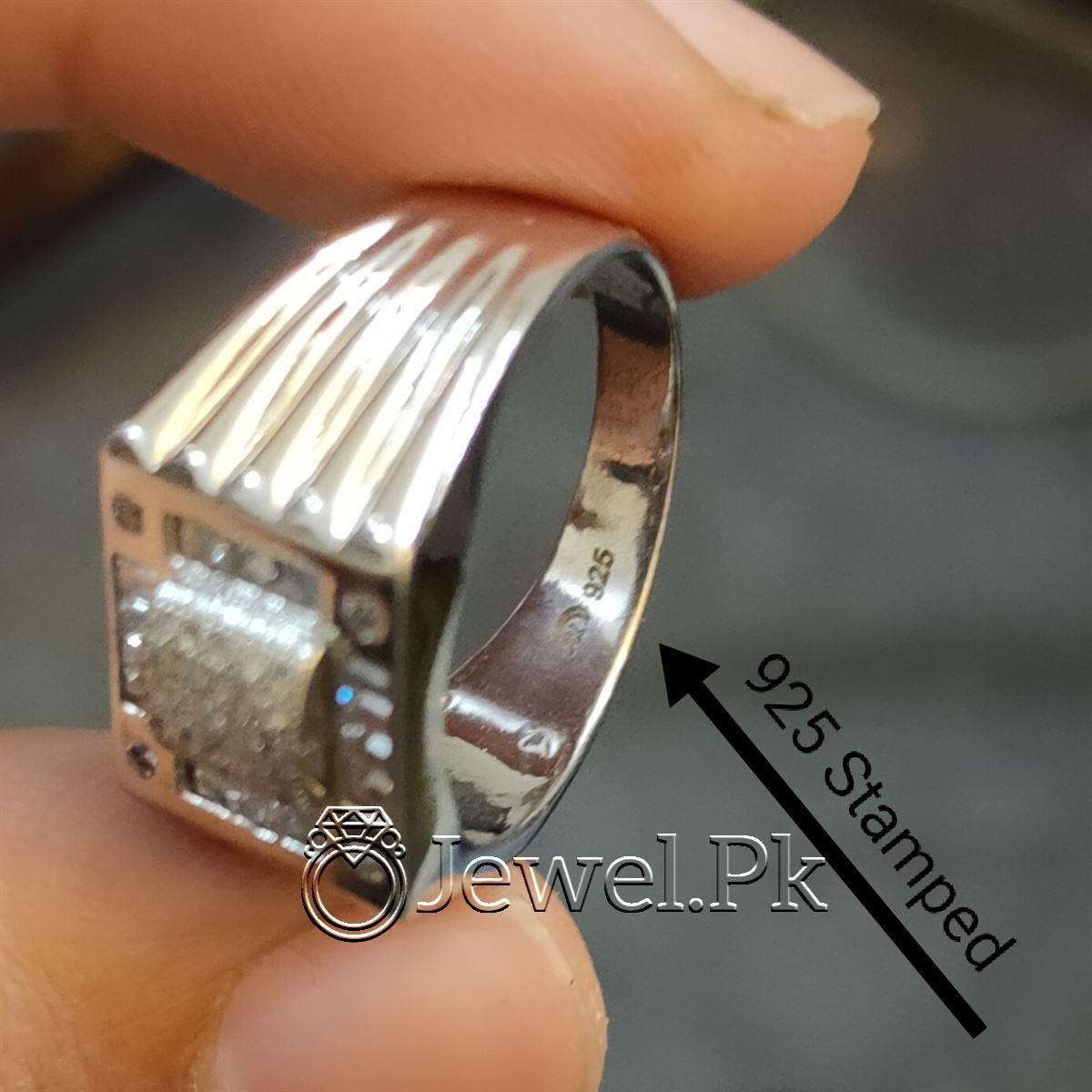 Luxury Italian Rings for men Very Beautiful Italian Zircon Rings for man 6 natural gemstones pakistan + 925 silver jewelry online