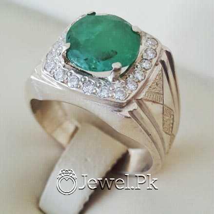 Natural Emerald Zamurd Stone with Pure Silver 925 Chandi 23 natural gemstones pakistan + 925 silver jewelry online