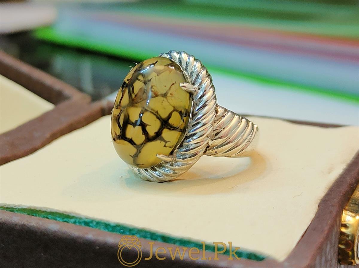 Natural Shajiri Aqeeq Ring Beautiful Aqeeq 4 natural gemstones pakistan + 925 silver jewelry online