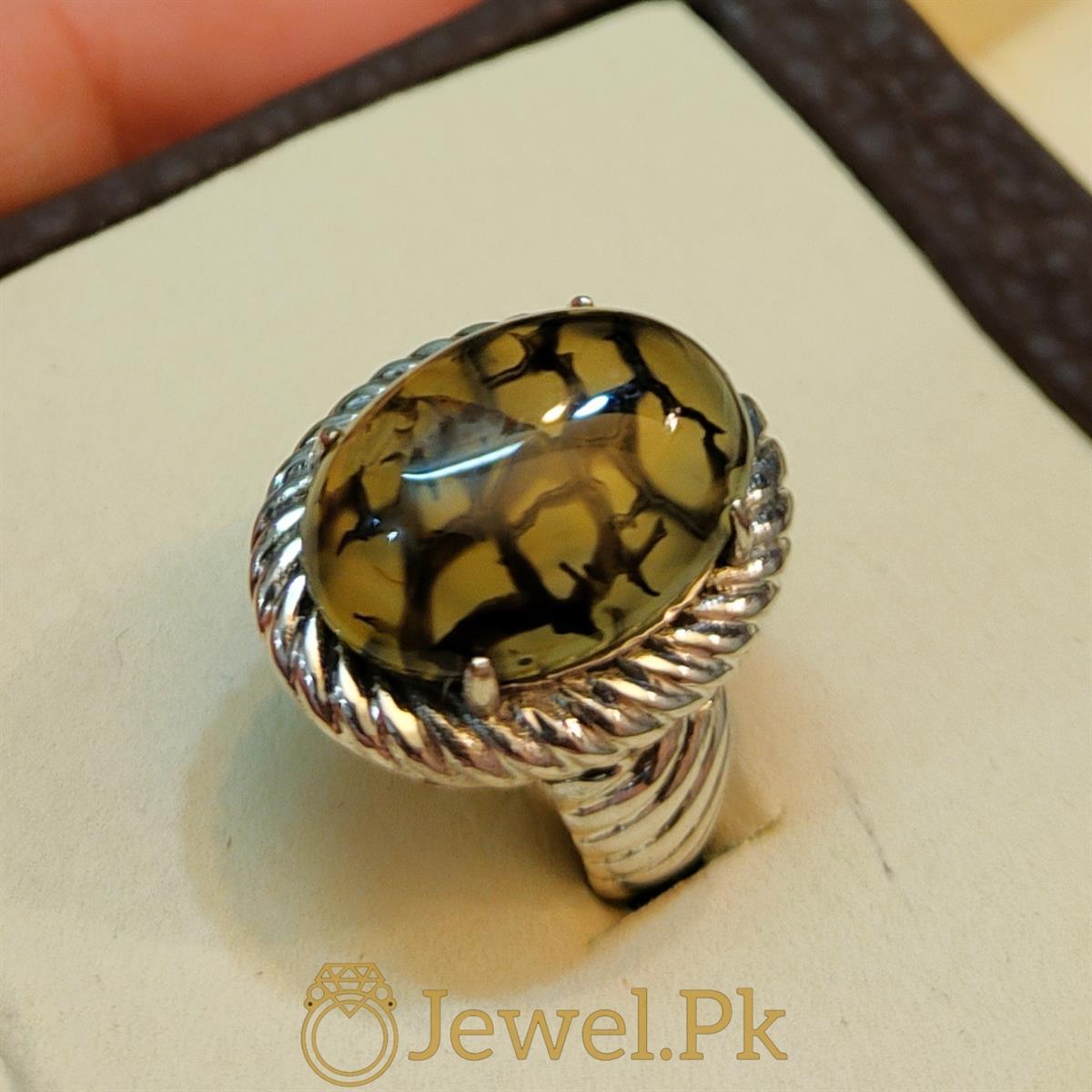 Natural Shajiri Aqeeq Ring Beautiful Aqeeq 5 natural gemstones pakistan + 925 silver jewelry online