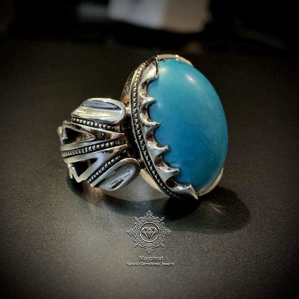 Original Nishapuri Feroza Ring - Handmade