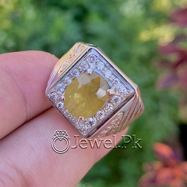 Pukhraj Ring- Natural Yellow Sapphire -
