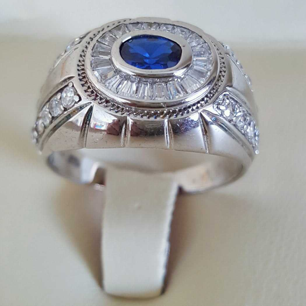 Pure Silver 925 Men Rings Italian Rings Imported From Dubai 13 natural gemstones pakistan + 925 silver jewelry online