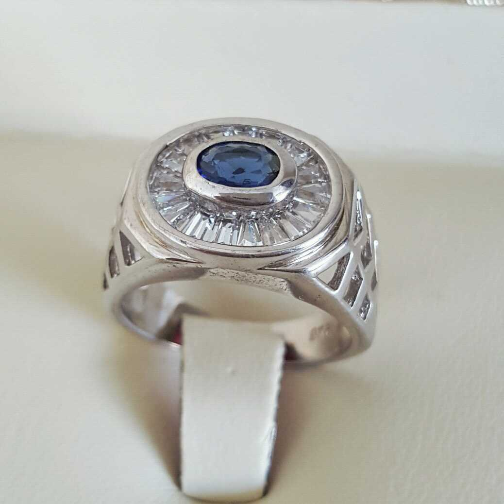 Pure Silver 925 Men Rings Italian Rings Imported From Dubai 5 natural gemstones pakistan + 925 silver jewelry online