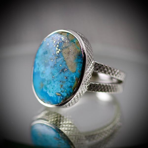 Natural Shajri Feroza - Turquoise Ring