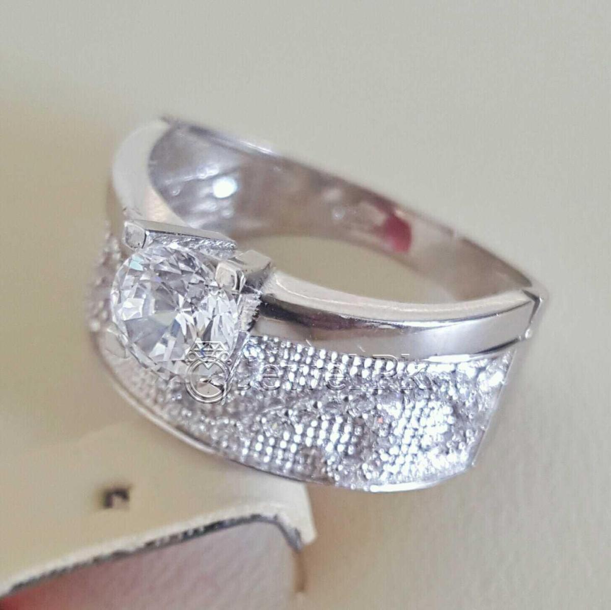 925 Silver Luxury Rings for Ladies Women Silver Rings Woman Handmade Rings 36 natural gemstones pakistan + 925 silver jewelry online