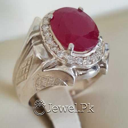 Real Silver 925 Chandi with Natural Ruby Yaqoot Stone 20 natural gemstones pakistan + 925 silver jewelry online