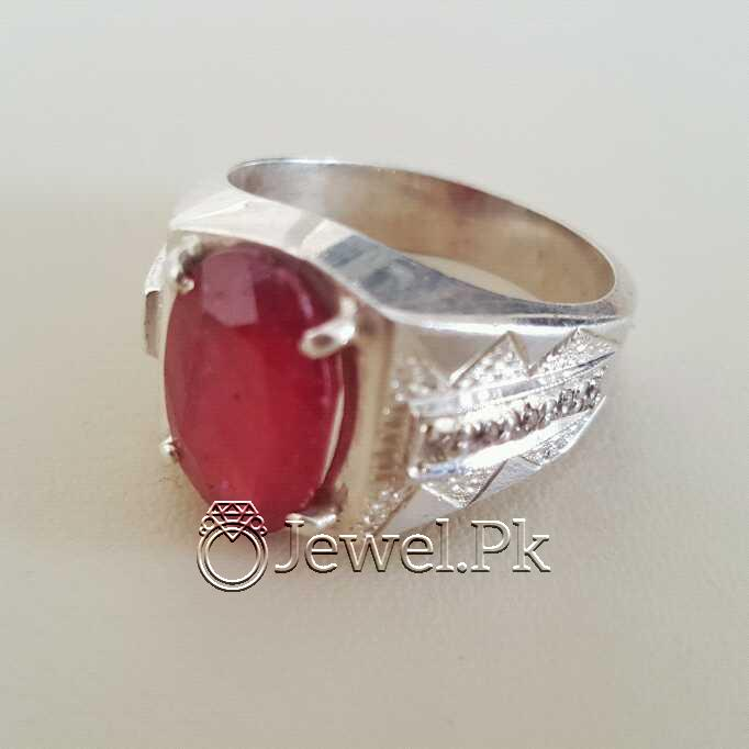 Real Silver 925 Chandi with Natural Ruby Yaqoot Stone 29 natural gemstones pakistan + 925 silver jewelry online