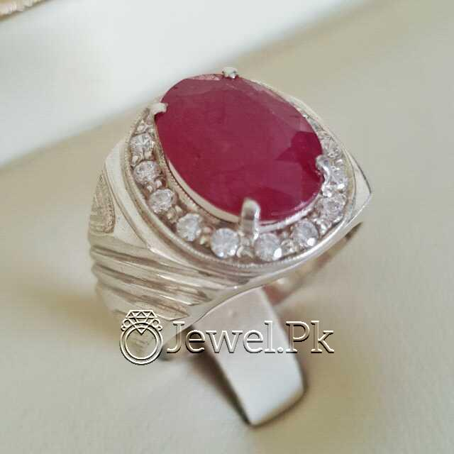 Real Silver 925 Chandi with Natural Ruby Yaqoot Stone 45 natural gemstones pakistan + 925 silver jewelry online