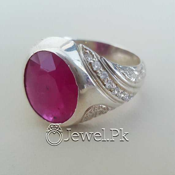 Real Silver 925 Chandi with Natural Ruby Yaqoot Stone 51 natural gemstones pakistan + 925 silver jewelry online