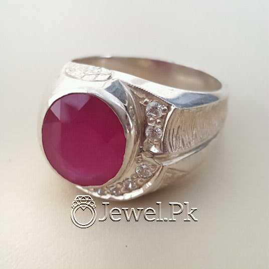 Real Silver 925 Chandi with Natural Ruby Yaqoot Stone 54 natural gemstones pakistan + 925 silver jewelry online
