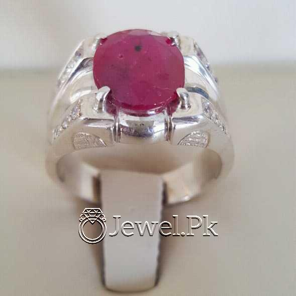 Real Silver 925 Chandi with Natural Ruby Yaqoot Stone 9 natural gemstones pakistan + 925 silver jewelry online