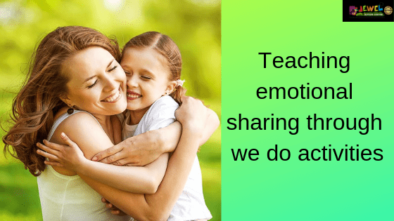 Teaching emotional sharing
