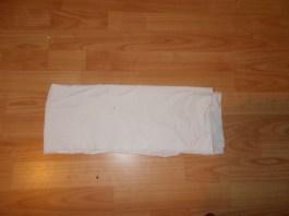 Folded in half vertical
