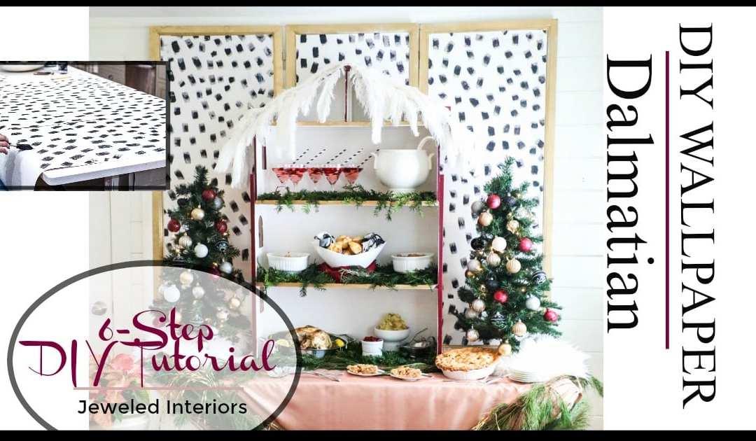 diy dalmatian wallpaper tutorial instant style for your. Black Bedroom Furniture Sets. Home Design Ideas