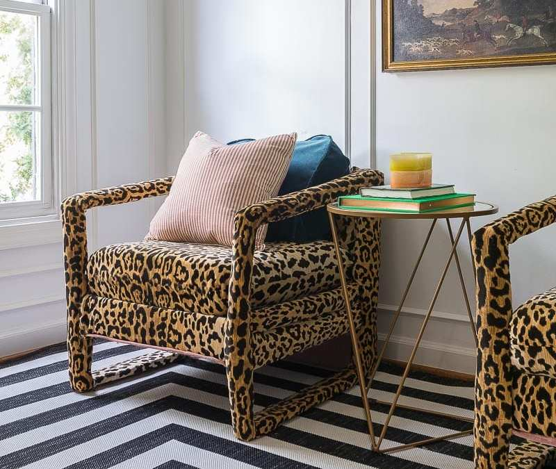 How and Why I am Feeding my Leopard Chair OBSESSION | Jeweled Interiors | ORC WK 3