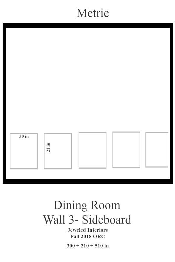 Jeweled Interiors Dining Room Wall 3